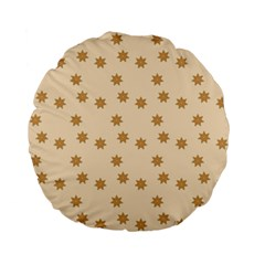 Pattern Gingerbread Star Standard 15  Premium Flano Round Cushions