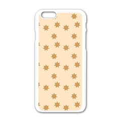 Pattern Gingerbread Star Apple iPhone 6/6S White Enamel Case