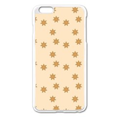 Pattern Gingerbread Star Apple iPhone 6 Plus/6S Plus Enamel White Case