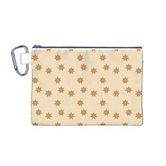 Pattern Gingerbread Star Canvas Cosmetic Bag (M)