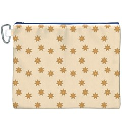 Pattern Gingerbread Star Canvas Cosmetic Bag (xxxl)