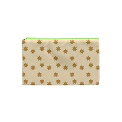 Pattern Gingerbread Star Cosmetic Bag (XS)