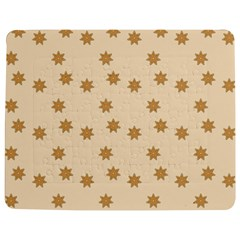 Pattern Gingerbread Star Jigsaw Puzzle Photo Stand (rectangular)