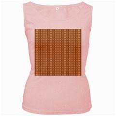 Pattern Background Brown Lines Women s Pink Tank Top