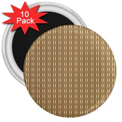 Pattern Background Brown Lines 3  Magnets (10 Pack)