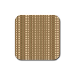Pattern Background Brown Lines Rubber Square Coaster (4 Pack)