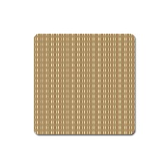 Pattern Background Brown Lines Square Magnet