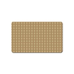 Pattern Background Brown Lines Magnet (Name Card)