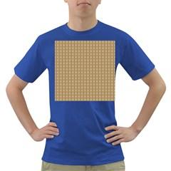 Pattern Background Brown Lines Dark T Shirt