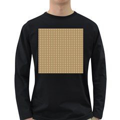 Pattern Background Brown Lines Long Sleeve Dark T-Shirts