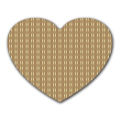 Pattern Background Brown Lines Heart Mousepads