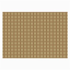 Pattern Background Brown Lines Large Glasses Cloth (2 Side)