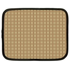 Pattern Background Brown Lines Netbook Case (XL)