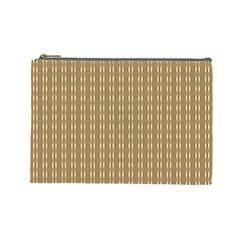 Pattern Background Brown Lines Cosmetic Bag (Large)