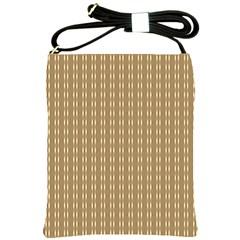 Pattern Background Brown Lines Shoulder Sling Bags