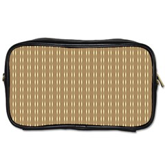 Pattern Background Brown Lines Toiletries Bags