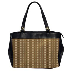 Pattern Background Brown Lines Office Handbags