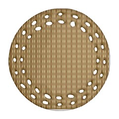 Pattern Background Brown Lines Ornament (round Filigree)