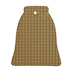 Pattern Background Brown Lines Bell Ornament (two Sides)