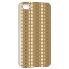 Pattern Background Brown Lines Apple iPhone 4/4s Seamless Case (White)