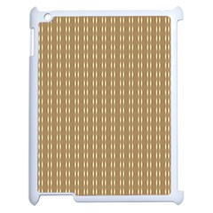 Pattern Background Brown Lines Apple iPad 2 Case (White)