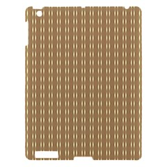 Pattern Background Brown Lines Apple iPad 3/4 Hardshell Case
