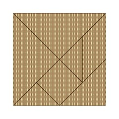 Pattern Background Brown Lines Acrylic Tangram Puzzle (6  x 6 )