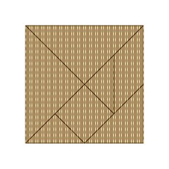 Pattern Background Brown Lines Acrylic Tangram Puzzle (4  x 4 )