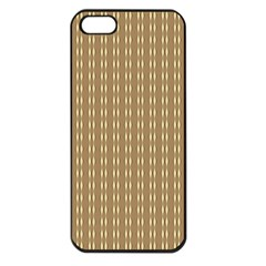 Pattern Background Brown Lines Apple iPhone 5 Seamless Case (Black)