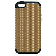 Pattern Background Brown Lines Apple iPhone 5 Hardshell Case (PC+Silicone)