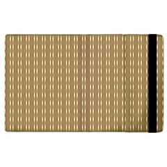 Pattern Background Brown Lines Apple Ipad 2 Flip Case