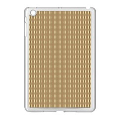 Pattern Background Brown Lines Apple iPad Mini Case (White)