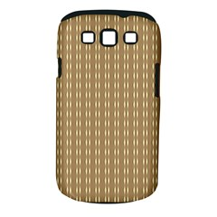 Pattern Background Brown Lines Samsung Galaxy S III Classic Hardshell Case (PC+Silicone)