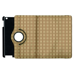 Pattern Background Brown Lines Apple iPad 2 Flip 360 Case