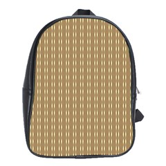 Pattern Background Brown Lines School Bags (XL)