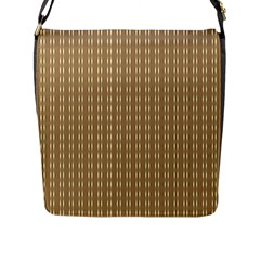 Pattern Background Brown Lines Flap Messenger Bag (L)