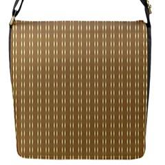 Pattern Background Brown Lines Flap Messenger Bag (S)