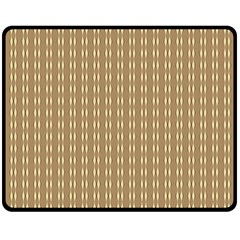 Pattern Background Brown Lines Double Sided Fleece Blanket (Medium)