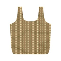 Pattern Background Brown Lines Full Print Recycle Bags (m)