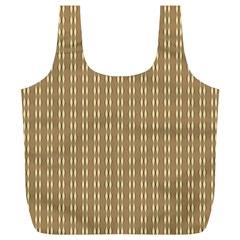 Pattern Background Brown Lines Full Print Recycle Bags (l)