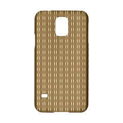 Pattern Background Brown Lines Samsung Galaxy S5 Hardshell Case