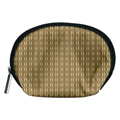 Pattern Background Brown Lines Accessory Pouches (Medium)