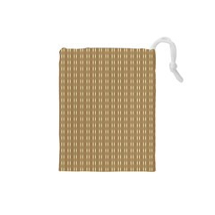 Pattern Background Brown Lines Drawstring Pouches (Small)