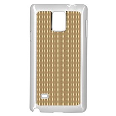Pattern Background Brown Lines Samsung Galaxy Note 4 Case (White)