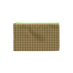 Pattern Background Brown Lines Cosmetic Bag (XS)