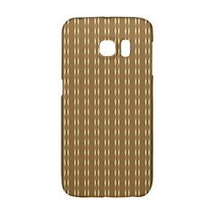 Pattern Background Brown Lines Galaxy S6 Edge
