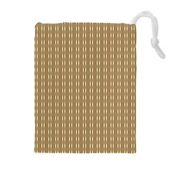 Pattern Background Brown Lines Drawstring Pouches (Extra Large)