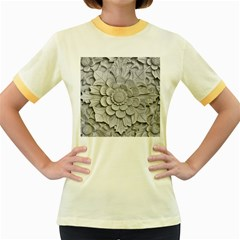 Pattern Motif Decor Women s Fitted Ringer T-Shirts