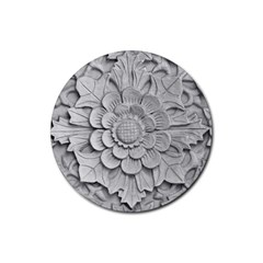 Pattern Motif Decor Rubber Coaster (round)