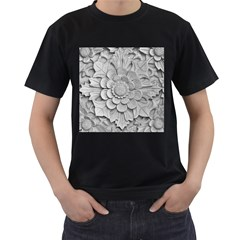 Pattern Motif Decor Men s T-Shirt (Black) (Two Sided)